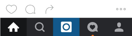 instagram navigation icons