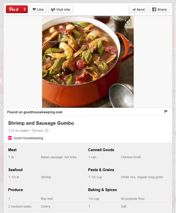 Recipe Rich Pin from Pinterest