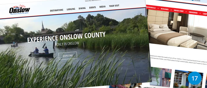 Onslow Tourism Site upgrades User Experience