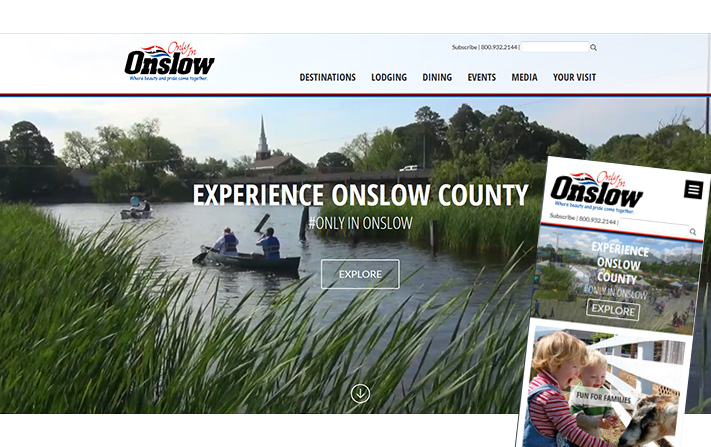 Onslow Tourism Website Redesigned