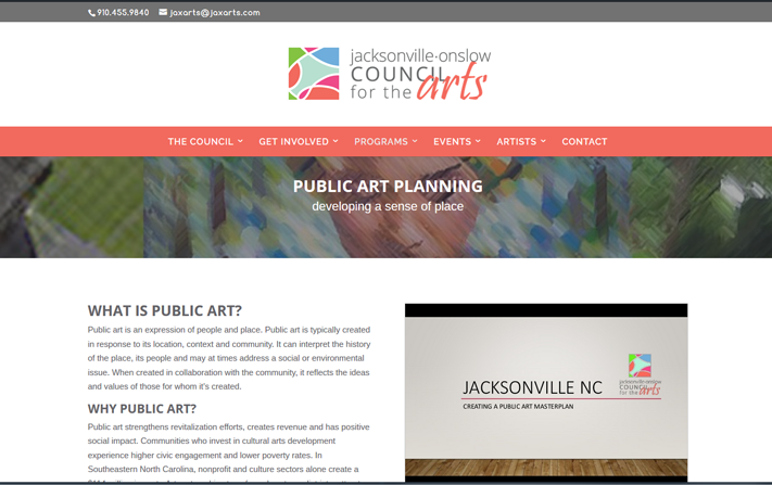 Council for the Arts Web Design