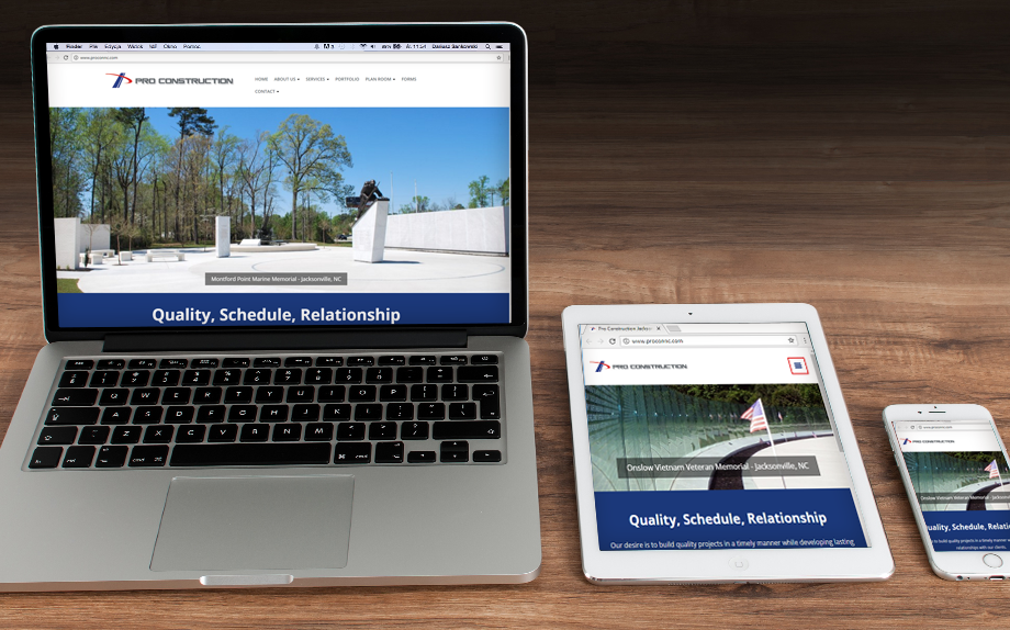 Pro Construction Responsive Website