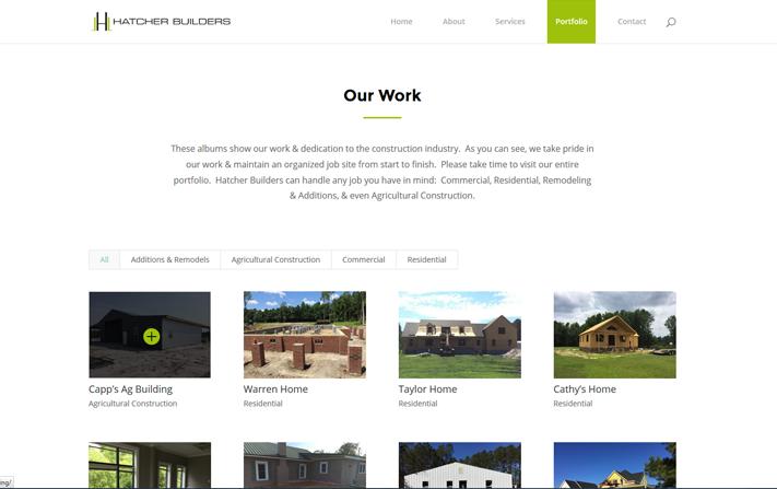 Builder portfolio page
