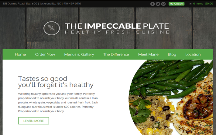 The Impeccable Plate Online Ordering