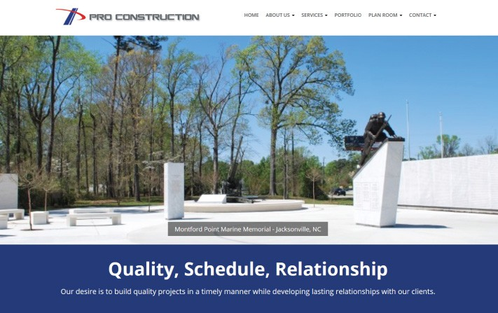 Pro Construction Responsive Website
