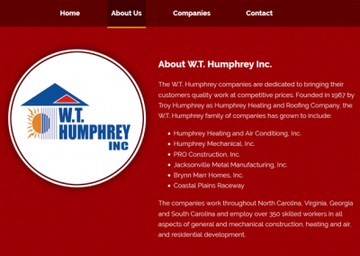 WT Humphrey Corporate Site