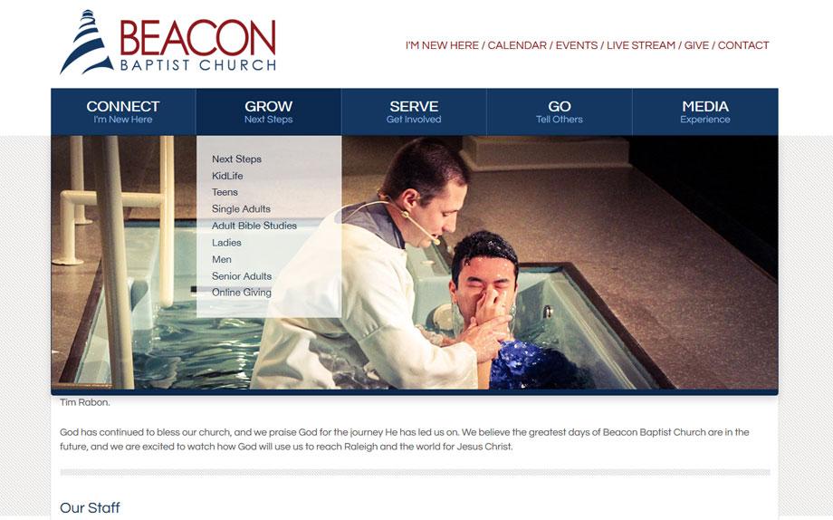 beacon baptist secondary page