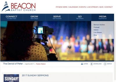 Beacon Baptist Responsive Website