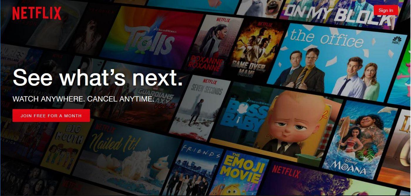 Sample Landing Page - Netflix