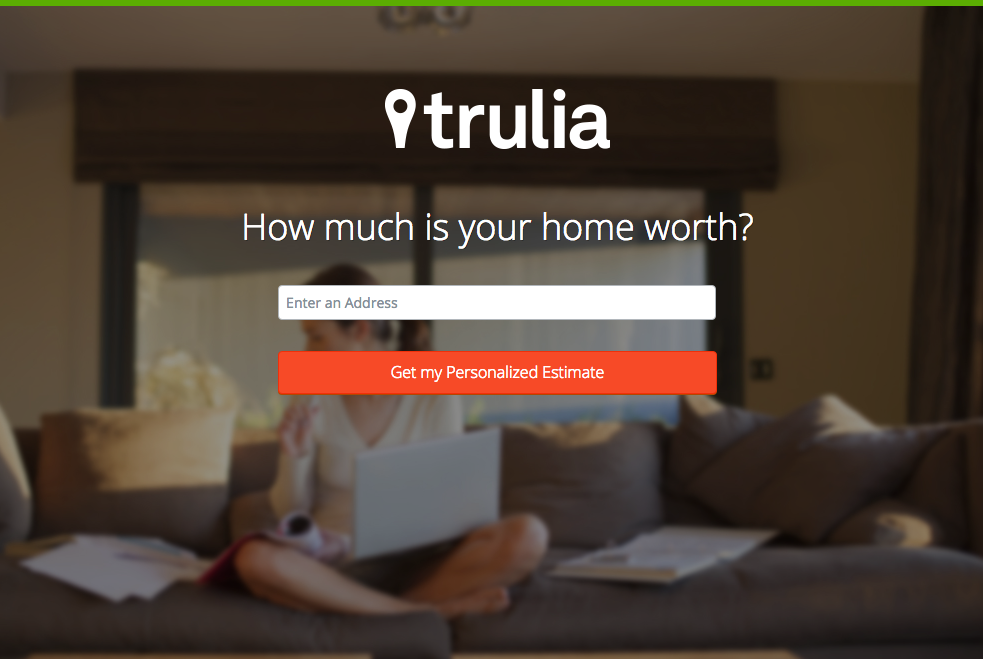 Sample Landing Page from Trulia
