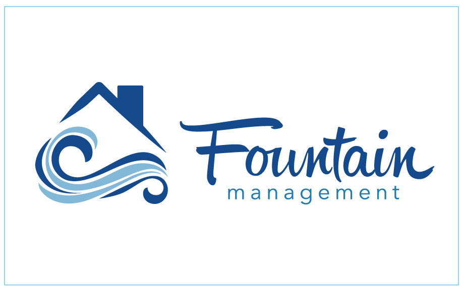 Fountain Management Logo Design - 17Blue Digital Agency