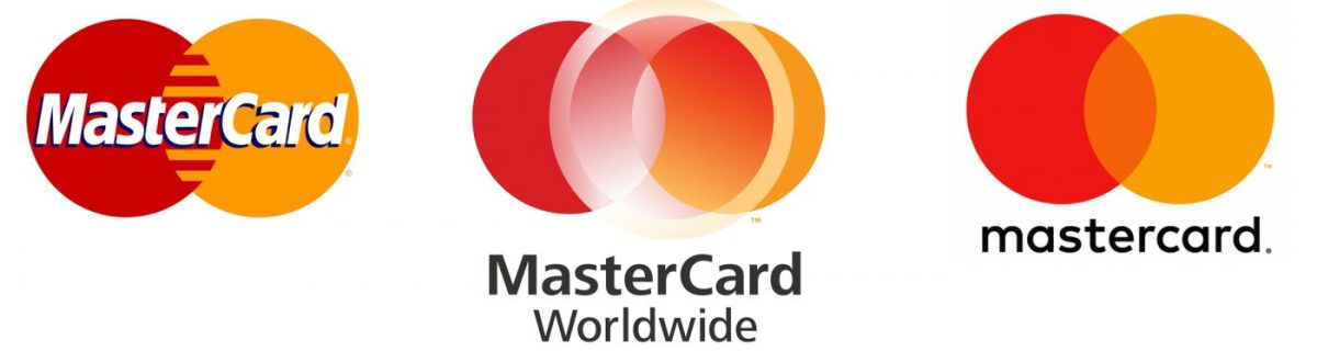 Mastercard logo changes over time